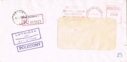 30559. Carta Certificada Aerea WARSZAWA (Polska) Polonia 1994. Franqueo Mecanico - 1944-.... République