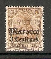 006592 German PO In Morocco 1905 3c FU - Offices: Morocco
