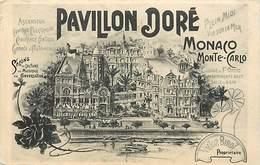 Pays Div -ref N608- Illustrateurs - Dessin Illustrateur - Pavillon Doré - Monaco - Monte Carlo - Carte Bon Etat - - Monte-Carlo