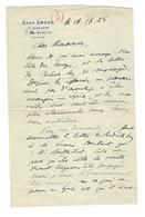 """GENERAL WEYGAND Autographe  """" Coat Amour , Ploujean  Morlaix """" 1925 - Autogramme & Autographen"""