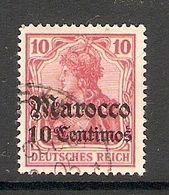 006594 German PO In Morocco 1905 10c FU - Offices: Morocco
