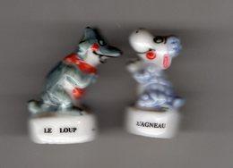 2 Fèves Duo Brillantes LES FABLES DE LA FONTAINE Le Loup & L'agneau - Animals