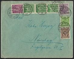 1922/1923 - DEUTSCHES REICH - Cover + Michel 208P+232+241+244+268 + LEIPZIG - Germany