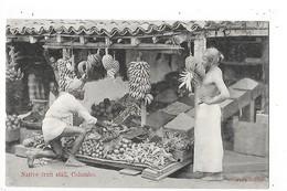 CEYLON  ( Sri Lanka )   Native Fruit Stall - COLOMBO  -  L 1- ## RARE ## - Sri Lanka (Ceylon)