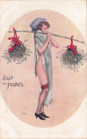 CPA Femme Lady Glamour Girl Fraäu Donna Bas Le Gui De Paris N° 22 Illustrateur R. KIRCHNER - Kirchner, Raphael