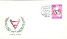 PERU' LIMA FDC  HANDICAP   (NOV180162) - Perù