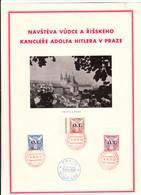 """Propaganda Blatt, """" DER FÜHRER IN PRAG """" , Sonderstempel - Weltkrieg 1939-45"""