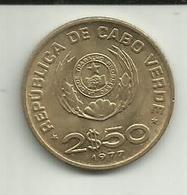 2 1/2 Escudos 1977 Cabo Verde - Cap Vert
