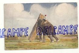 Elephant At Work. Oilette. Raphael Tuck & Sons N° 8902 - Éléphants