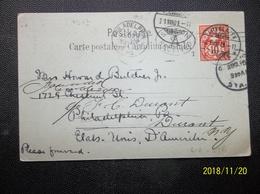 Helvetia: 1901 PPC To USA (#KK10) - 1882-1906 Coat Of Arms, Standing Helvetia & UPU
