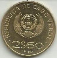 2 1/2 Escudos 1982 Cabo Verde BNC - Cap Vert