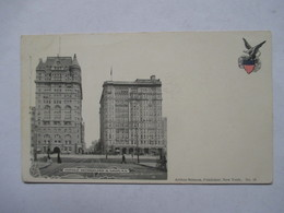 NEW YORK    -   PRECURSEUR DE 189.     HOTELS NETHERLAND  & SAVOY         TTB - Cafés, Hôtels & Restaurants