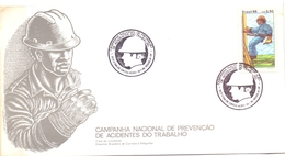 BRASIL NATIONAL CAMPAIGN FOR WORK PREVENTION COVER  FDC  (NOV180168) - FDC