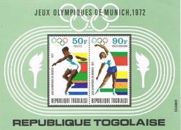 30568. Hojita Aerea Y Terrestre TOGO 1972. Juegos Olimpicos MUNICH 72. Sport. ATHEN, Yvert H-62 ** - Togo (1960-...)