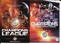 FOOTBALL - MONTPELLIER HERAULT  - CHAMPION DE FRANCE - OLIVIER GIRAUD - UEFA CHAMPIONS LEAGUE- 2CP - Football