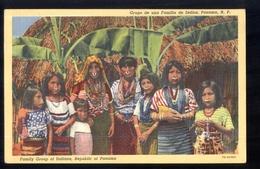 PANAMA - ANNI 50 - GRUPO DE UNA FAMILIA DE INDIOS - Panama