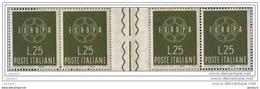 EUROPA 1959 Italie Gutter Pair - Inter Panneaux -zwischensteeg - Interspazio  R  Michel 65 €uros - Europa-CEPT
