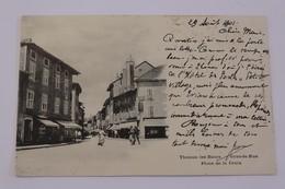 CPA THONON LES BAINS  Grande Rue Place De La Crooix DOS NON DIVISE 1901 ANIME - Thonon-les-Bains