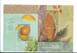 ARGENTINA 2004,  SINGAPORE STAMPS CHAMPS SHEET SCOTT 2296  SOUVENIR SHEET FRUITS & MAPS - Nuovi