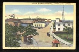 PANAMA - ANNI 50 - VISTA DEL PUERTO ATLANTICO DE LA ZONA DEL CANAL - CRISTOBAL - Panama
