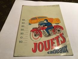 Plaque En Tôle  Publicité Des Magasins De Jouet Jouet  Cadeau Voiture Moto SFA Citroen - Plaques Publicitaires