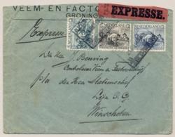 Nederland - 1930 - Rembrandt Serie Op Expresse Treinbrief Van Groningen Naar (Stationschef) Winschoten - Brieven En Documenten
