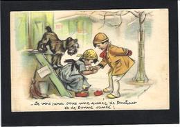 CPA Chien Germaine BOURET Dog Non Circulé MD 77 Cartomancie - Bouret, Germaine