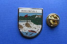 Pin's, Ville,Village,RHEINFALL,bateau, Jut Du Rhin, Suisse - Cities