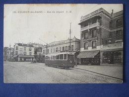 ENGHIEN -les-BAINS Rue Du Départ Tramway  1936 - Enghien Les Bains