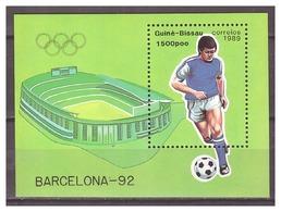 Guinee-Bissau 1992 Olympics Soccer S/S MNH - Zomer 1992: Barcelona