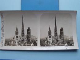 ROUEN : Cathédrale, Les Tours Et La Flèche : S. 48 - 4201 ( Maison De La Bonne Presse VUES De FRANCE ) Stereo Photo ! - Photos Stéréoscopiques