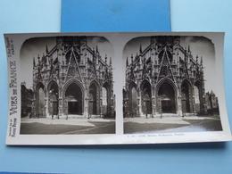 ROUEN : St. Maclou, Façade : S. 45 - 4169 ( Maison De La Bonne Presse VUES De FRANCE ) Stereo Photo ! - Photos Stéréoscopiques