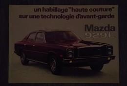 MAZDA 929 L RARE AFFICHE PUBLICITAIRE AUTOMOBILE ANNEE 80 ORIGINALE 28 Cm / 20 Cm - Voitures