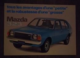 MAZDA 323 RARE AFFICHE PUBLICITAIRE AUTOMOBILE ANNEE 80  ORIGINALE 28 Cm / 20 Cm - Voitures