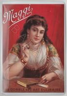 Repro D'Affiches Publicitaires Vintage Sur Métal Émaillé (Effet Bombé) - Comble De L'Art Culinaire Maggi (Recto-Verso) - Enameled Signs (after1960)