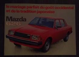 MAZDA 626 RARE AFFICHE PUBLICITAIRE AUTOMOBILE ANNEE 80 ORIGINALE 28 Cm / 20 Cm - Voitures