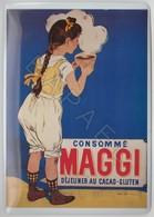 Repro D'Affiches Publicitaires Vintage Sur Métal Émaillé (Effet Bombé) - Consommé Maggi (Recto-Verso) - Reclameplaten