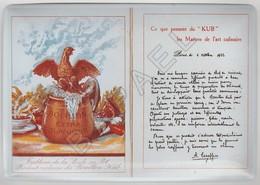 Repro D'Affiches Publicitaires Vintage Sur Métal Émaillé (Effet Bombé) - Kub Bouillon Extra (Recto-Verso) - Reclameplaten