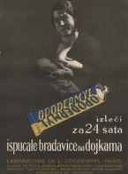 OPODERMYL , PHARMACY , MEDICINE - SERBIA 1930 - Advertising