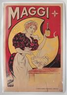 Repro D'Affiches Publicitaires Vintage Sur Métal Émaillé (Effet Bombé) - Maggi (Cuisinière) (Recto-Verso) - Enameled Signs (after1960)