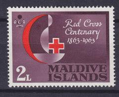 Maldives 1963 Mi. 124    2 L Red Cross Rotes Kreuz Croix Rouge Cruz Roja, MH* - Malediven (...-1965)