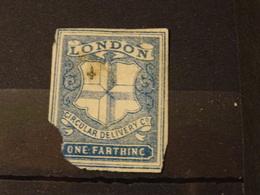 ETATS-UNIS Poste Privé Local LONDON  Circular Delivery C°  One Farth... Abimé - 1845-47 Emissions Provisionnelles