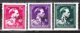 724N/P**  Leopold III Col Ouvert Surchargé -10% - LIBIN - Série Complète - MNH** - LOOK!!!! - 1946 -10%