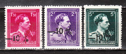724N/P**  Leopold III Col Ouvert Surchargé -10% - LILLOO - Série Complète - MNH** - LOOK!!!! - 1946 -10%