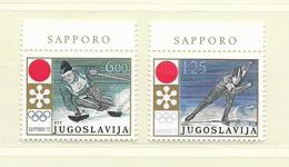 YOUGOSLAVIE  ( EU - 891 )  1971  N° YVERT ET TELLIER  N° 1331/1332  N** - 1945-1992 République Fédérative Populaire De Yougoslavie