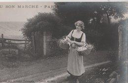 AU BON MARCHE. Camille Bellanger: Jeune Fermière. Salon De 1914 Des Artistes Français - Advertising