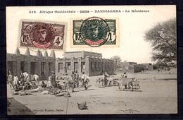 Haut-Sénégal Et Niger Maury N° 1 Et N° 3 Oblitérés Sur Belle Carte Postale. B/TB. A Saisir! - Haut-Sénégal Et Niger (1904-1921)