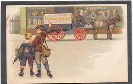 Cpa PUB CHOCOLAT LOMBART Sur La Charrette Du Cheval Attelé - Illustration - Advertising