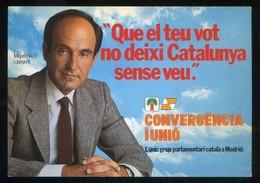 *Que El Teu Vot No Deixi Catalunya Sense Veu* Convergència I Unió 1982. Nueva. - Partidos Politicos & Elecciones