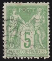 France   .   Yvert    .    106      .      O      .     Oblitéré - 1898-1900 Sage (Type III)